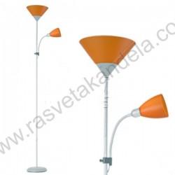 Podna lampa FL202 narandžasta sa belim telom