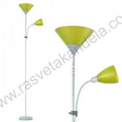 Podna lampa FL202 zelena sa belim telom
