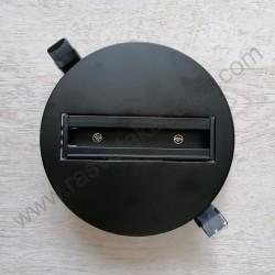 Šinski konektor ugradni crni