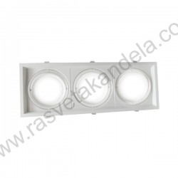 Rozetna - ugradna lampa 3xAR111 OT5085 bela aluminijum