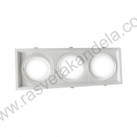 Rozetna - ugradna lampa usmeriva 3xAR111 OT5085 bela aluminijum