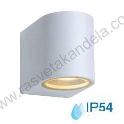 Baštenska zidna lampa TRENDY 1xGU10 - mat bela