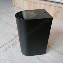 Baštenska zidna lampa 2xGU10 M952010 C mat crna