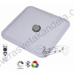 LED plafonjera 43,5x43,5cm bluetooth, android/iOS aplikacija, zvučnik i daljinski M205439-BT/RGB 2x32W