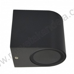 Baštenska zidna lampa 1xGU10 M952011 mat crna