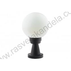 Baštenska stubna lampa visina 35cm 1xE27 GARDENIA-35 crna