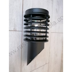 Baštenska zidna lampa 1xE27 HL295 PALMIYE-1 crna