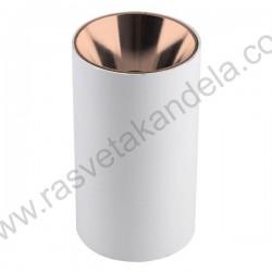 Nadgradna lampa 1xGU10 ANNA-R bela sa bakarnom bojom unutrašnjosti