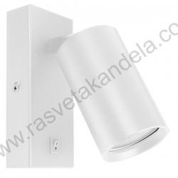 Spot lampa 1xGU10 ARTE bela sa prekidačem