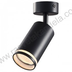 Spot lampa 1xGU10 GRAL crna