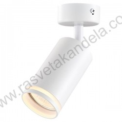 Spot lampa 1xGU10 GRAL bela