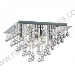 Kristalna luster plafonjera 32 x 32cm CRYSTAL-SQ kristali K5