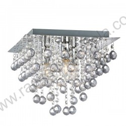 Kristalna luster plafonjera 42 x 42cm CRYSTAL-SQ kristali K5
