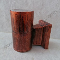 Baštenska zidna lampa RAB 1xGU10 braon/mahagoni