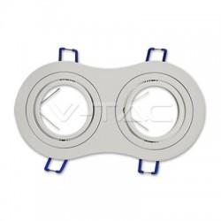 Rozetna - ugradna lampa 2xGU10 VT-783RD bela aluminijum