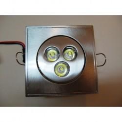 Ugradna LED lampa 3x1W bela/toplo bela