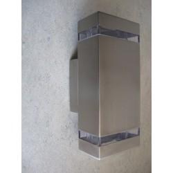 Baštenska zidna lampa 2xGU10 HL247 GARDENYA-2 mat hrom