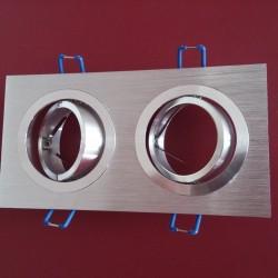 Rozetna - ugradna lampa 2xGU10 VT-783SQ aluminijum