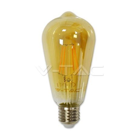 LED sijalica E27 ST64 Amber cover 4W 2200K dimmable