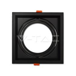 Rozetna - ugradna lampa AR111 VT-7221 crna aluminijum