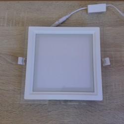 LED panel ugradni 15W HL686LG MARIA 15 3000K beli stakleni