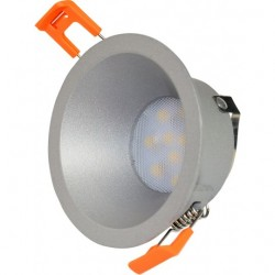 Rozetna - ugradna lampa M206174 srebrno peskarena metal