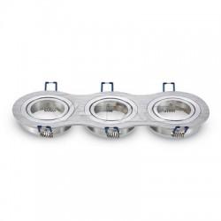Rozetna - ugradna lampa 3xGU10 VT-784RD aluminijum