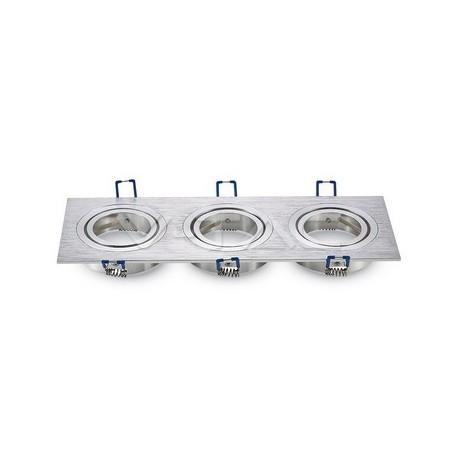 Rozetna - ugradna lampa 3xGU10 VT-784SQ aluminijum