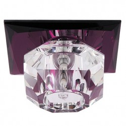 Rozetna staklena - ugradna lampa HL800 NILUFER ljubičasta
