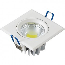 Ugradna LED lampa četvrtasta 3W HL678L VICTORIA-3 6400K bela